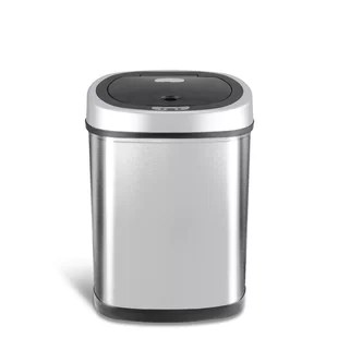 kitchen trash bin kids in the book cans you ll love wayfair stainless steel 11 gallon motion sensor can
