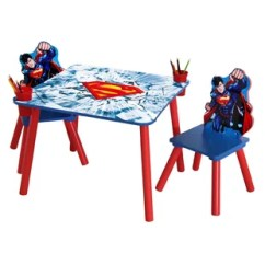 Spiderman Table And Chairs Hanging Chair For Teenager Meeting Wayfair Superman Wooden Kids 3 Piece Set