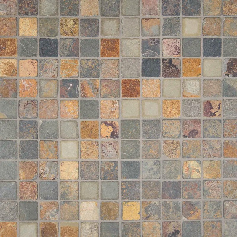 MSI California 2 x 2 Slate Mosaic Tile in Multi