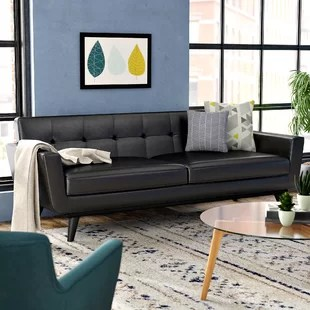 72 lancaster leather sofa narrow depth sofas uk inch wayfair quickview