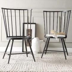 Pompon Nailhead Side Chair Beach Rental Farmhouse Dining Chairs & Benches | Birch Lane