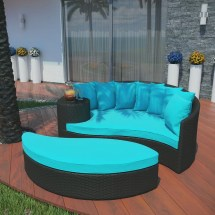 Red and Turquoise Outdoor Furniture Cushions