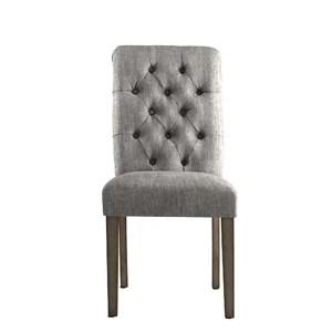 pompon nailhead side chair saarinen tulip upholstered dining joss main