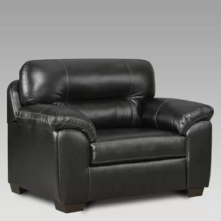 black leather chair and a half home depot patio chairs accent you ll love wayfair quickview