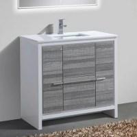 "Mercury Row Bosley 36"" Single Modern Bathroom Vanity Set ..."