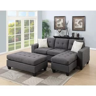 denim living room furniture cottage chic blue sectional sofa wayfair quickview