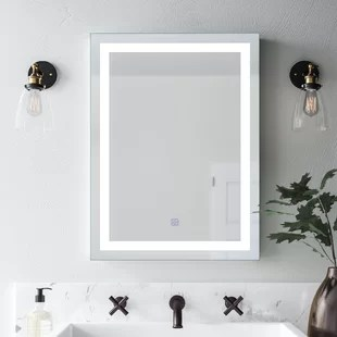 mirror decor in living room pictures of painted rooms decorative mirrors wayfair butcher illuminated bathroom wall