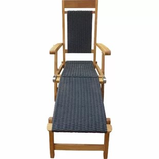 teak steamer chair upholstered vanity chairs for bathroom wayfair quickview