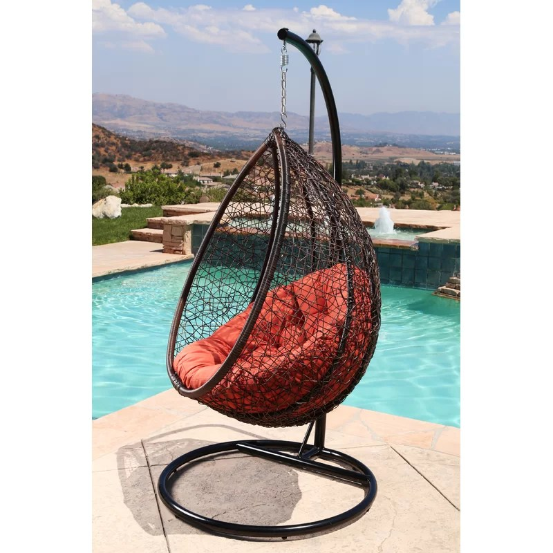 outdoor wicker swing chair what is a chairperson in meeting ostrowski with stand joss main
