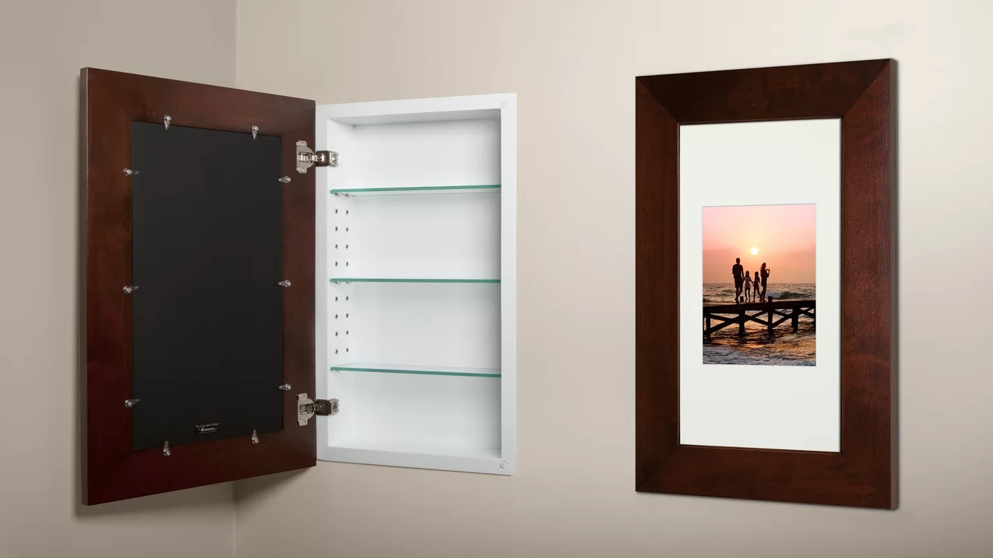 Concealed Cabinet 14x24 Concealed Recessed Picture Frame