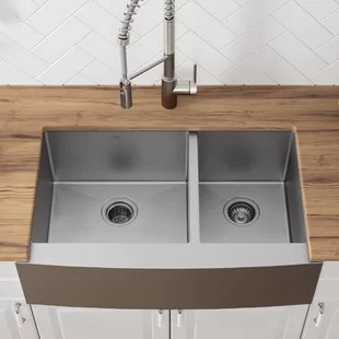 kitchen farm sink high flow rate faucets farmhouse sinks you ll love wayfair quickview