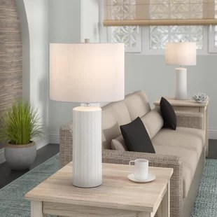 lighting in living room vinyl flooring table lamps you ll love wayfair ca heming 25 lamp set of 2