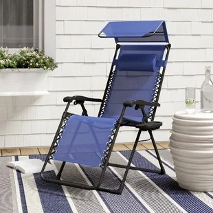lawn chair with canopy lounge chairs home depot beach you ll love wayfair quickview