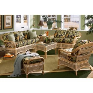 wicker living room sets decorating indoor rattan wayfair keiper configurable set