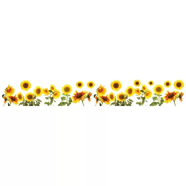 wallpops sunflowers border wall