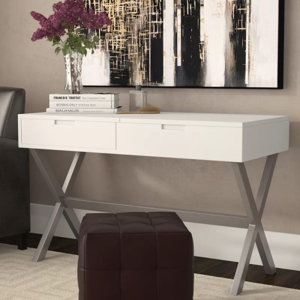Wade Logan Clancy Desk Vanity Set With Mirror &