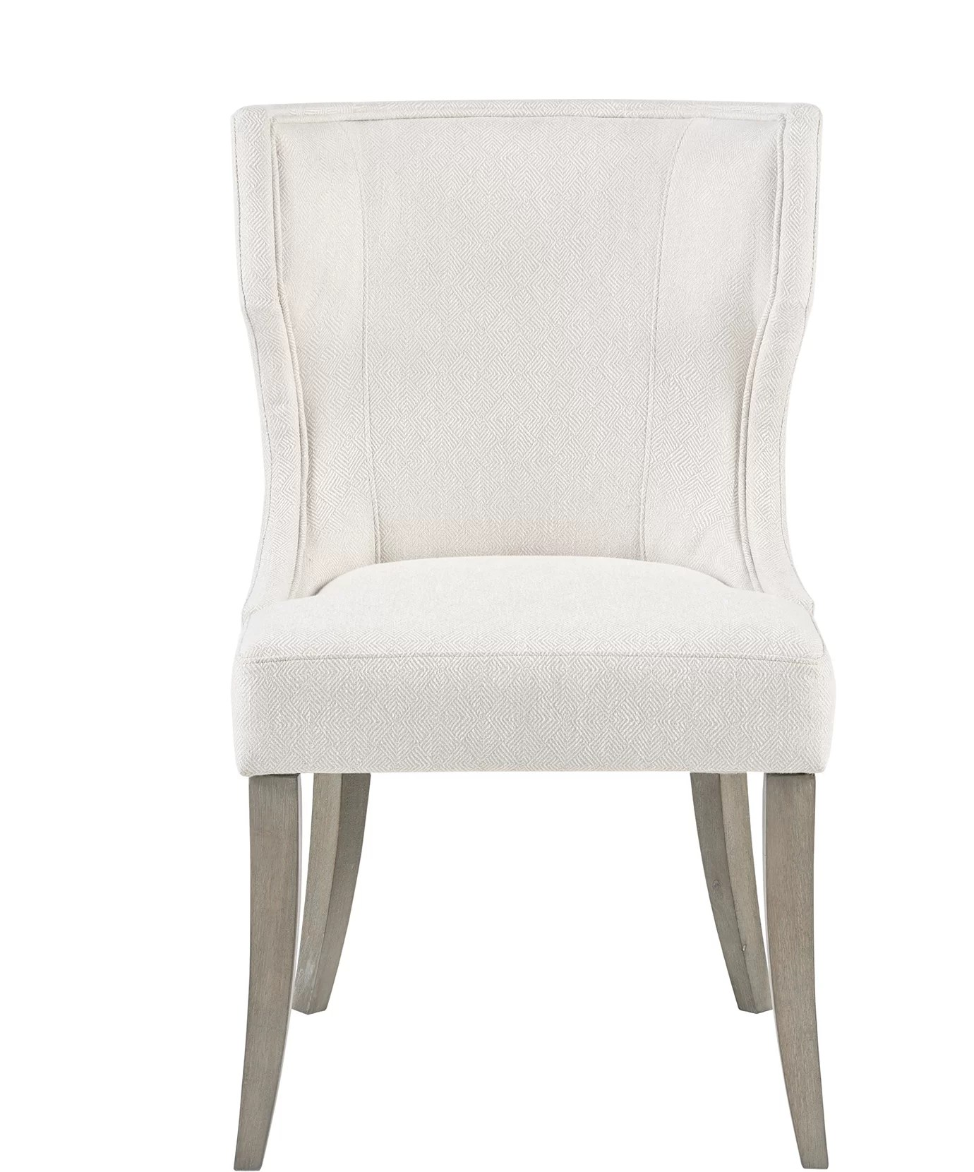 cream upholstered dining chairs stacking resin ophelia co laflamme chair wayfair