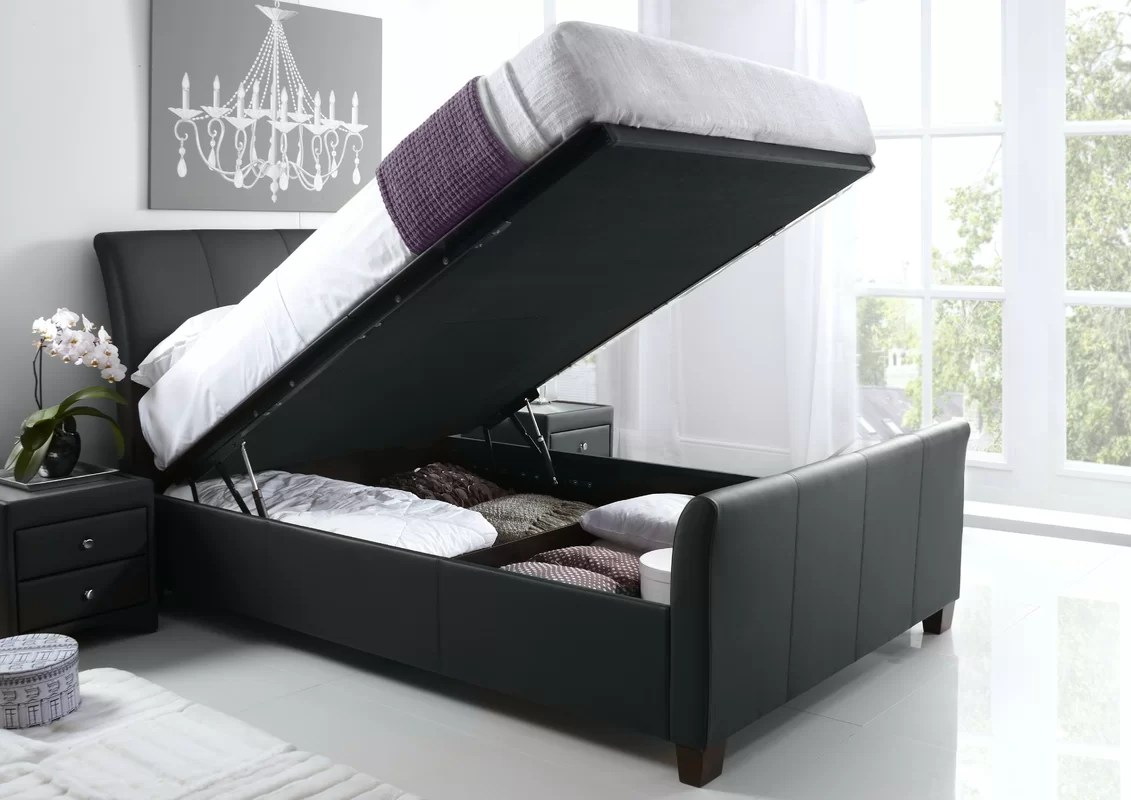 Home & Haus Upholstered Ottoman Bed Frame & Reviews