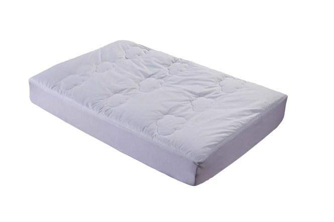 All Natural Down Alternative 100 Cotton Filled Crib Mattress Pad