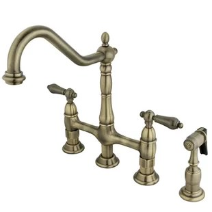antique bronze kitchen faucet curtain sets brass faucets you ll love wayfair quickview polished chrome oil rubbed