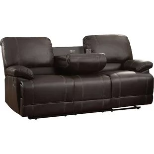 dual reclining rv sofa l shaped for office recliner wayfair edgar double