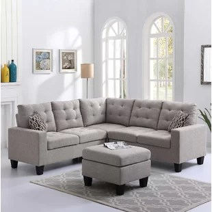 small sectional living room furniture interiors india grey sectionals you ll love wayfair quickview
