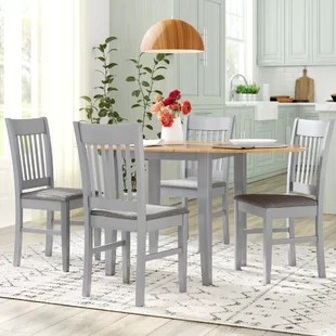tables and chairs gray tufted dining table sets kitchen you ll love wayfair co uk bouvet extendable set with 4