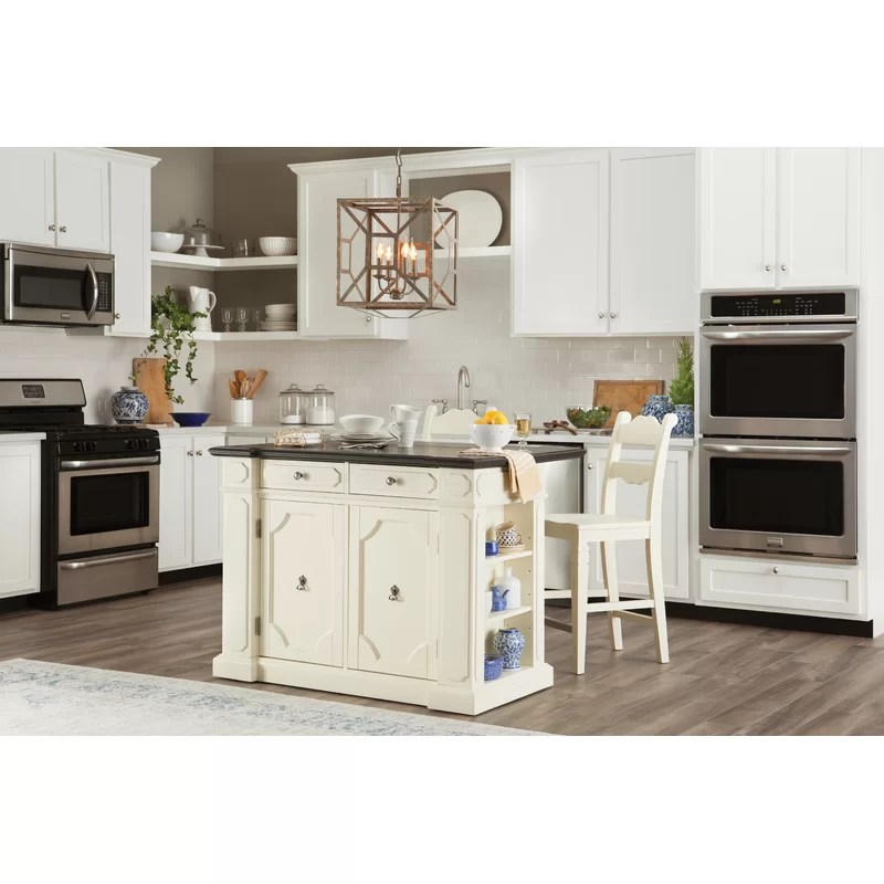 fiesta kitchen utility table home styles island set wayfair