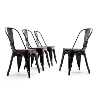 plastic chairs with stainless steel legs eames outdoor stacking you ll love wayfair quickview