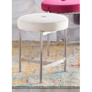 pink vanity chair captain bar stool with swivel blush wayfair quickview