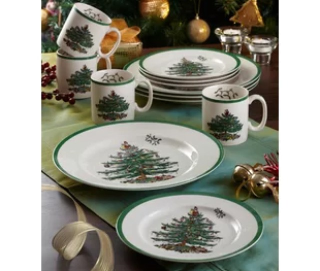 Christmas Tree  Piece Dinnerware Set Service For  By Spode