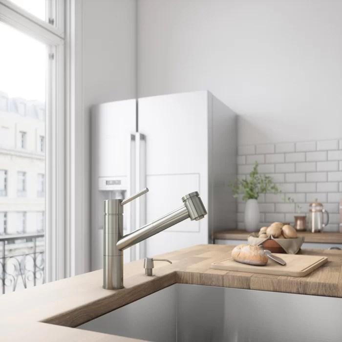 dispenser kitchen shirts vigo branson pull out single handle faucet with optional soap