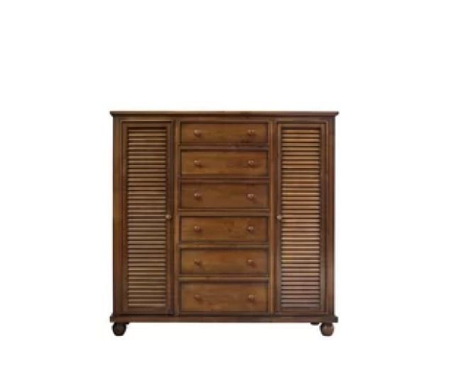Montez Shutter Wood Armoire