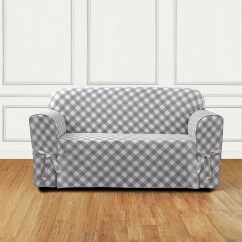 Buffalo Check Sofa Cover Jcpenney Sleeper Reviews Sure Fit Box Cushion Slipcover