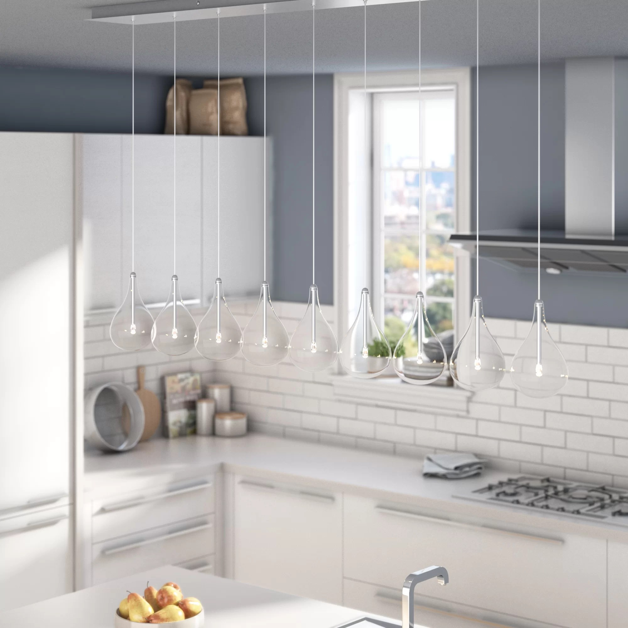 kitchen pendant cabinets raleigh nc wade logan neal 9 light island reviews wayfair