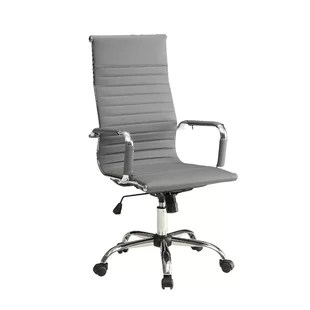 grey material office chair 2 person camping modern chairs allmodern quickview