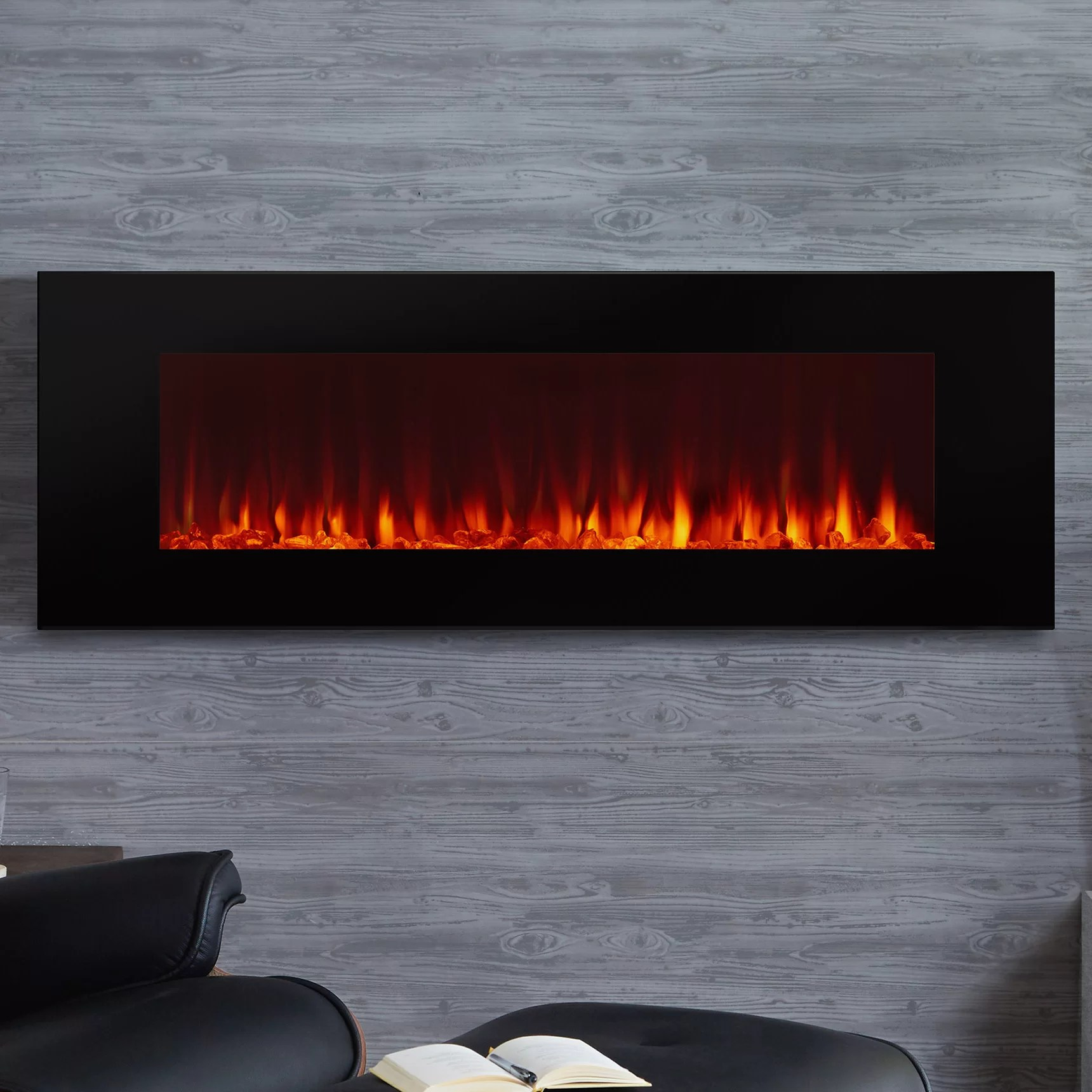 Real Flame DiNatale Wall Mounted Electric Fireplace  Reviews  Wayfair
