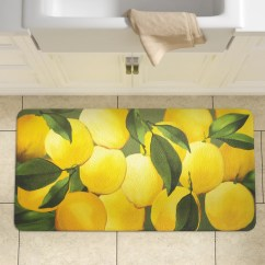Lemon Kitchen Rug Cabinets Doors For Sale Yellow Wayfair Ca Easterbrooks Lemons Mat