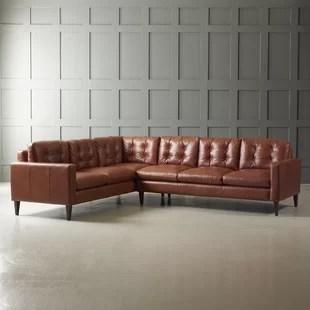 leather sectional sofas throw blanket on sofa you ll love wayfair ca save