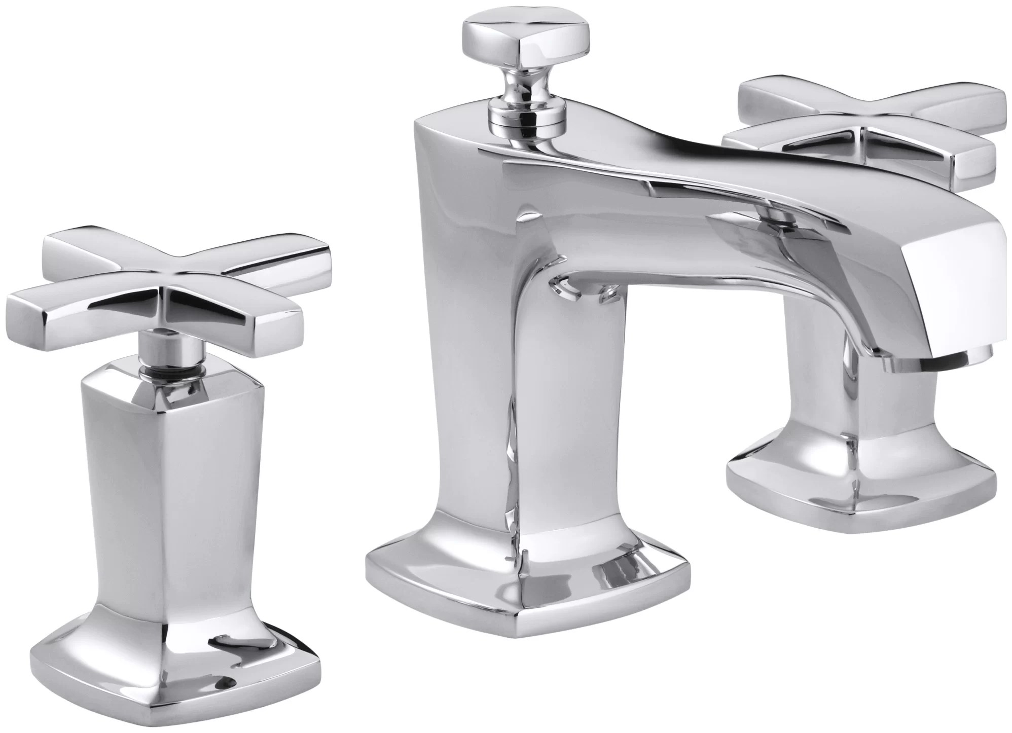 Bathroom Sink Faucets Margaux Widespread Bathroom Sink Faucet With Cross Handles