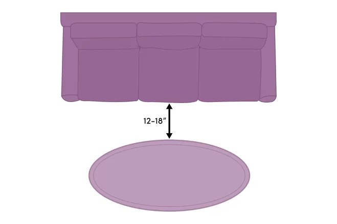sofa table size chesterfield style fabric coffee guide wayfair a should be approximately two thirds the length of your