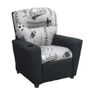 kids sports chairs rose gold satin chair sash uk for wayfair powell storm recliner with cup holder