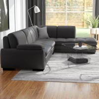 Jerald Leather Sectional & Reviews