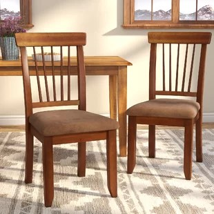 kitchen chairs green appliances dining you ll love wayfair kaiser point upholstered chair set of 2