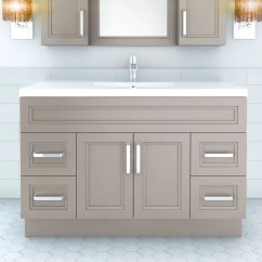 Cutler Kitchen And Bath Vanity Wall Mounted Table Urban 48 Single Bowl Reviews