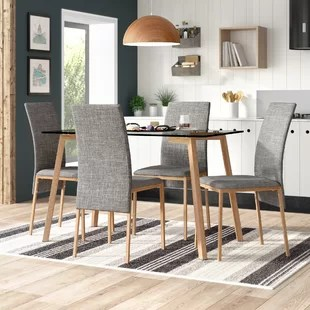 grey kitchen table and chairs plastic adirondack walmart dining sets you ll love wayfair co uk reba 4