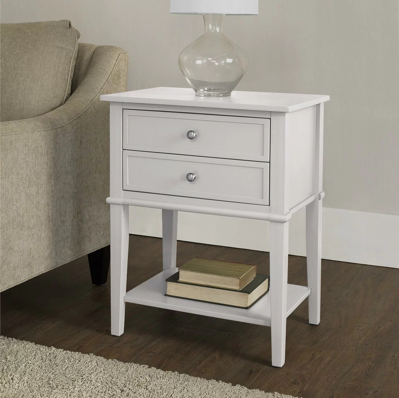Chair Side Table With Storage Beachcrest Home Winfield End Table With Storage And Reviews