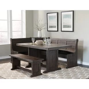 kitchen table and corner bench open island nook wayfair murilda breakfast dining set