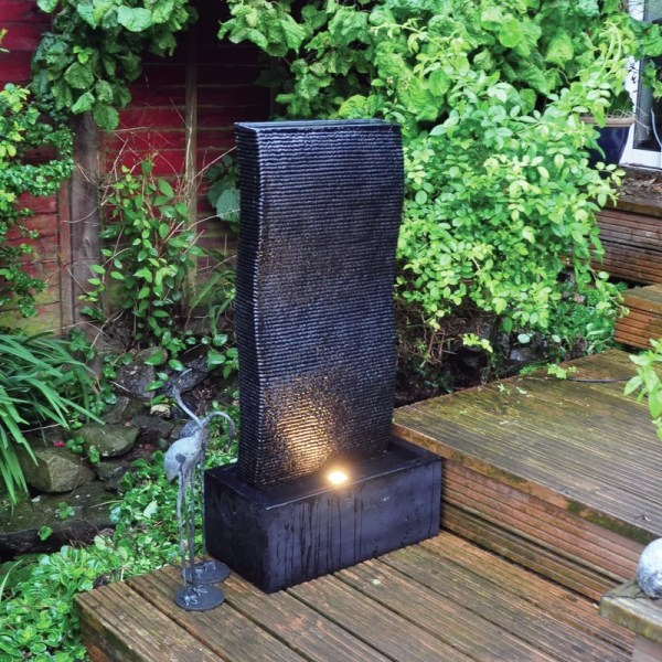 Kingfisher Ripple Wall Water Feature With Led Light &