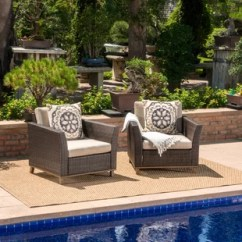 Patio Club Chair Folding With Side Table Outdoor Chairs You Ll Love Wayfair Midland Wicker Cushions Set Of 2